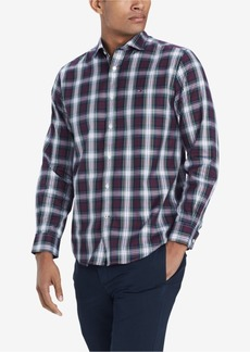 Tommy Hilfiger Men's Mullins Classic Fit Plaid Shirt, Created for Macy's