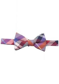 Tommy Hilfiger Men's Multi Plaid Pre Tied Bow Tie