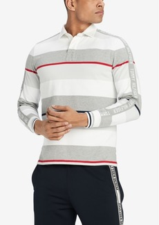Tommy Hilfiger Men's Murray Rugby Striped Classic Fit Shirt, Created for Macy's