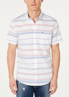 Tommy Hilfiger Men's Myles Custom-Fit Stripe Shirt