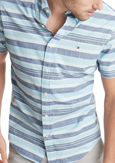 Tommy Hilfiger Men's Nash Stripe Short Sleeve Shirt