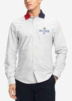 Tommy Hilfiger Men's New England Craig Custom Fit Shirt, Created for Macy's