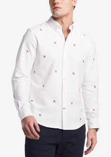 Tommy Hilfiger Men's New England Critter Embroidered-Logo Custom Fit Shirt, Created for Macy's