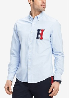 Tommy Hilfiger Men's New England Logo Slim Fit Shirt, Created for Macy's