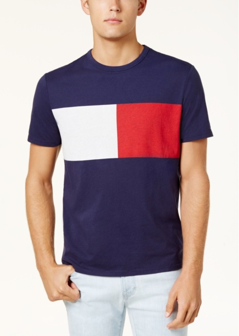 83cede0991b Tommy Hilfiger Tommy Hilfiger Men s New Standard Colorblock Flag T ...