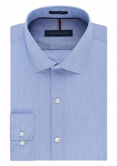 "Tommy Hilfiger Men's Non Iron Slim Fit Stripe Spread Collar Dress Shirt  18"" Neck 34""-35"" Sleeve"