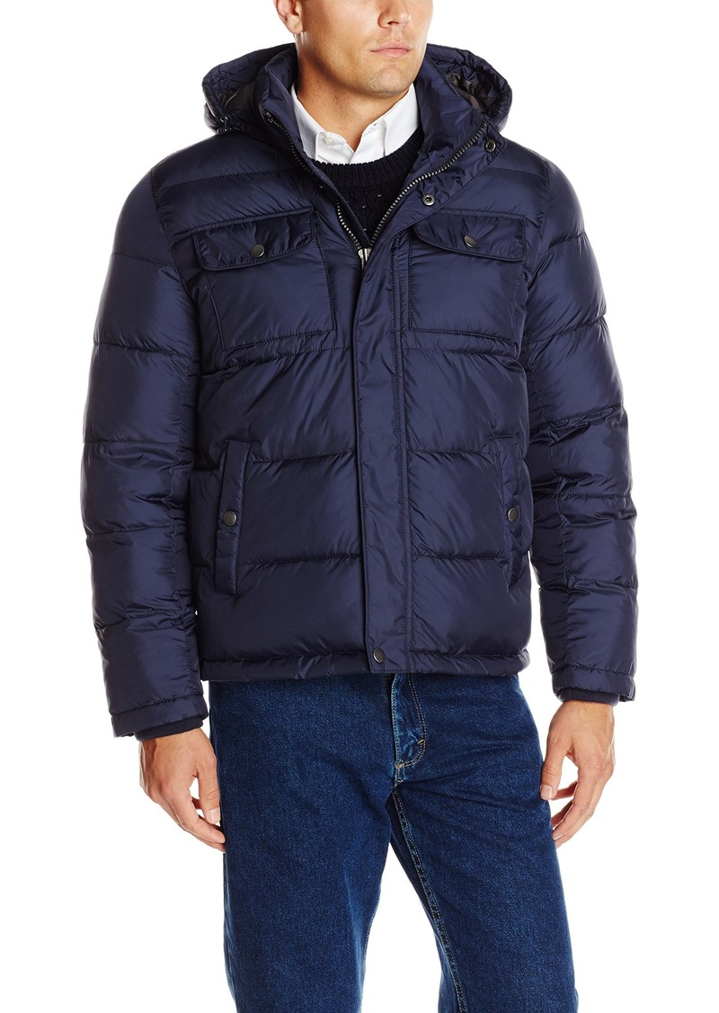 Tommy Hilfiger Men's Nylon Two Pocket Hoody Puffer