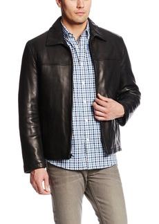 Tommy Hilfiger Men's Open Bottom Classic Leather Jacket