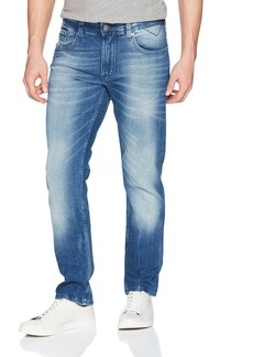 Tommy Hilfiger Men's Original Ronnie Straight Athletic Fit Jeans Berry mid Blue Comfort 28X30