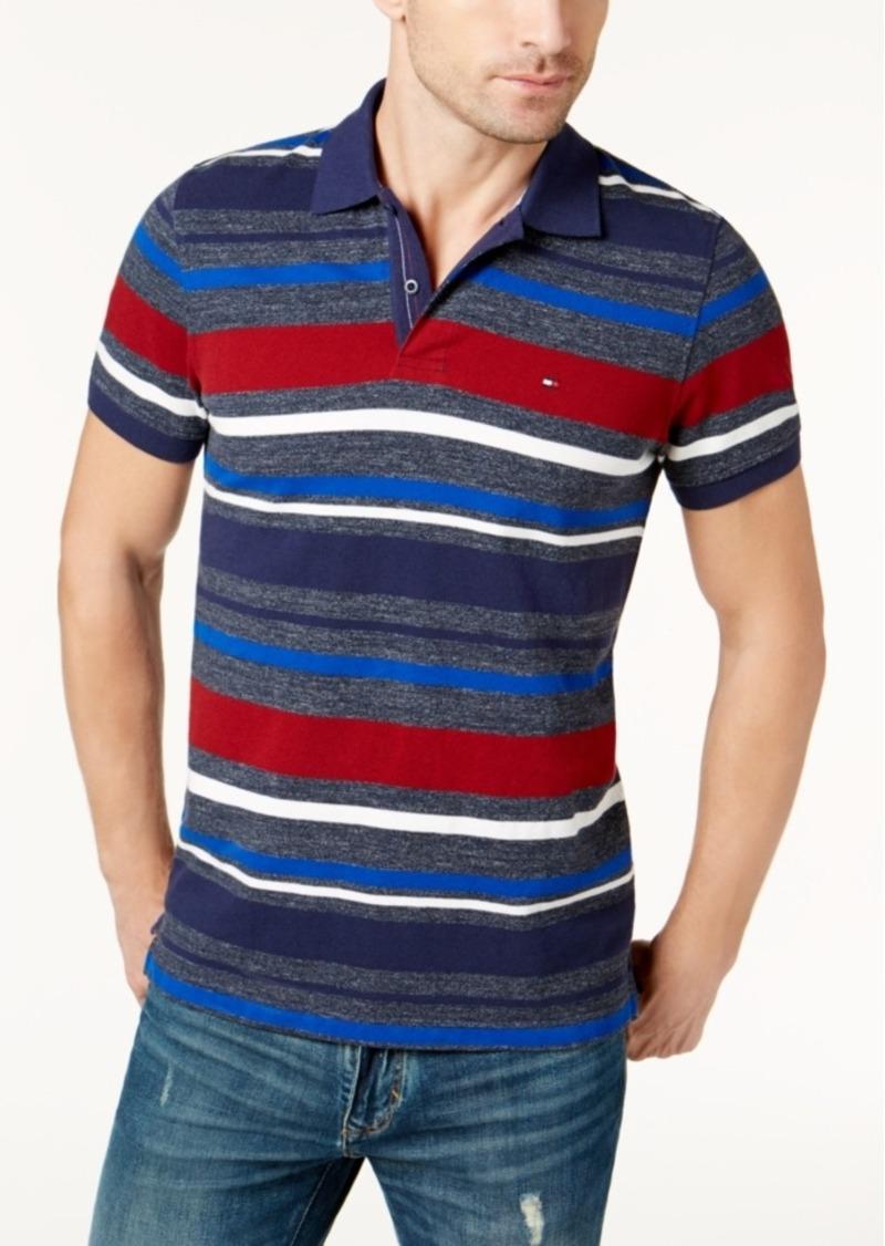 23c8322c5821 Tommy Hilfiger Tommy Hilfiger Men s Otis Stripe Custom-Fit Polo ...