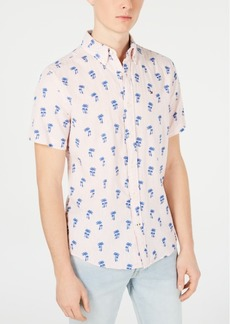 Tommy Hilfiger Men's Palm Tree Graphic Linen Shirt, Created for Macy's