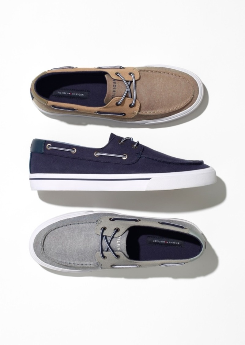 8961c6dcc9234 Tommy Hilfiger Tommy Hilfiger Men s Phinx Canvas Boat Shoes