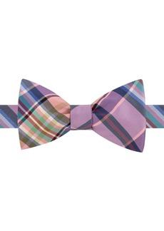 Tommy Hilfiger Men's Plaid To-Tie Silk Bow Tie