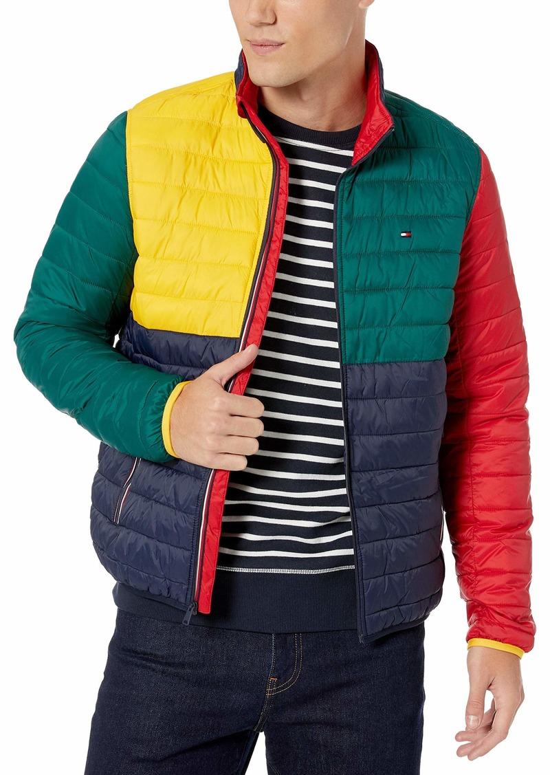 Tommy Hilfiger Men's Platinum Insulator Quilted Jacket Navy Blazer/Apple RED