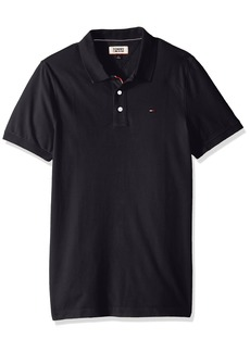 Tommy Hilfiger Men's Polo Shirt Slim Fit Original Flag with Short Sleeves