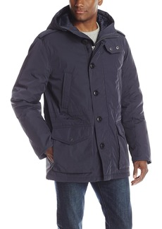 Tommy Hilfiger Men's Poly Twill Full Length Hooded Parka