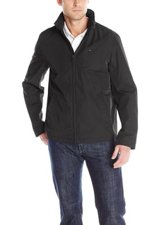 3e69fc82e Tommy Hilfiger Men's Poly-Twill Stand-Collar Zip-Front Jacket