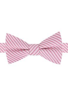 Tommy Hilfiger Men's Preppy Seersucker Stripe To-Tie Bow Tie