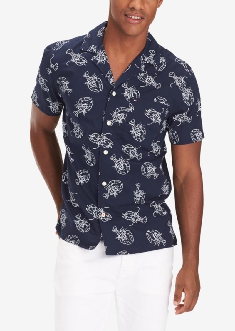 Tommy Hilfiger Men's Preston Custom-Fit Lobster-Print Camp Shirt