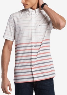 Tommy Hilfiger Men's Prost Gradient Stripe Pocket Shirt, Created for Macy's
