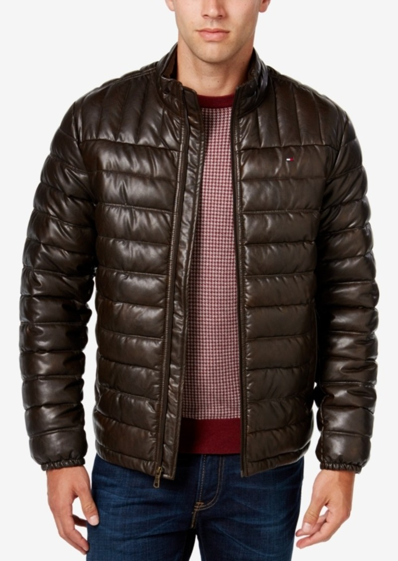 90d9f7d5cf2 Tommy Hilfiger Tommy Hilfiger Men s Big   Tall Faux-Leather Puffer ...