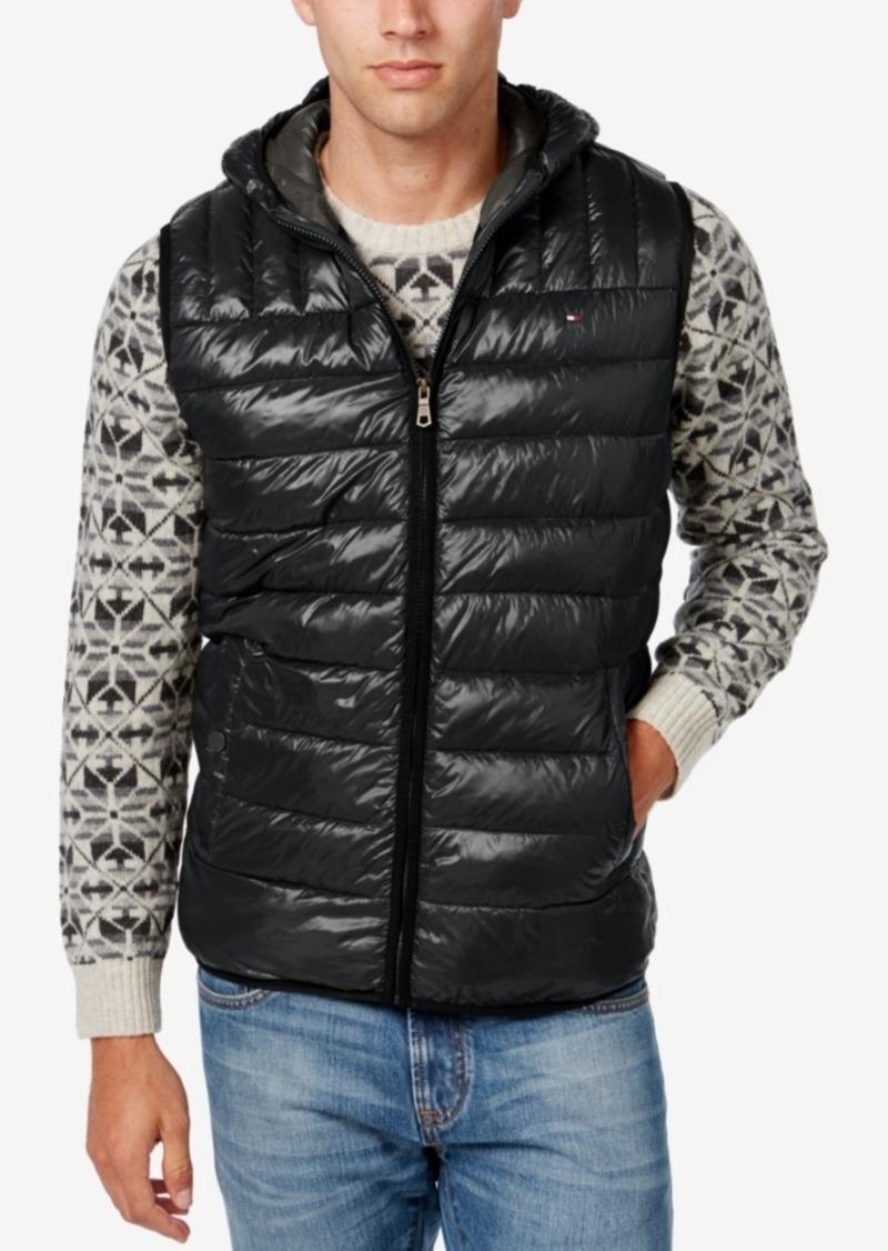 Tommy Hilfiger Tommy Hilfiger Men's Quilted Hooded Vest ... : tommy hilfiger quilted vest - Adamdwight.com