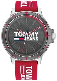 Tommy Hilfiger Tommy Jeans Red Silicone Strap Watch 44mm