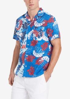 Tommy Hilfiger Men's Reid Custom-Fit Tropical-Print Camp Collar Shirt