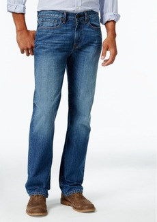 Tommy Hilfiger Men's Relaxed-Fit Dark Blue Wash Jeans