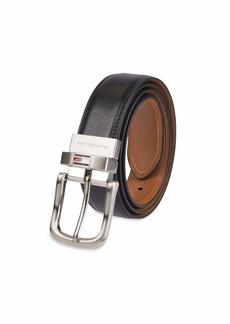 Tommy Hilfiger Men's Reversible Belt black/tan stitch