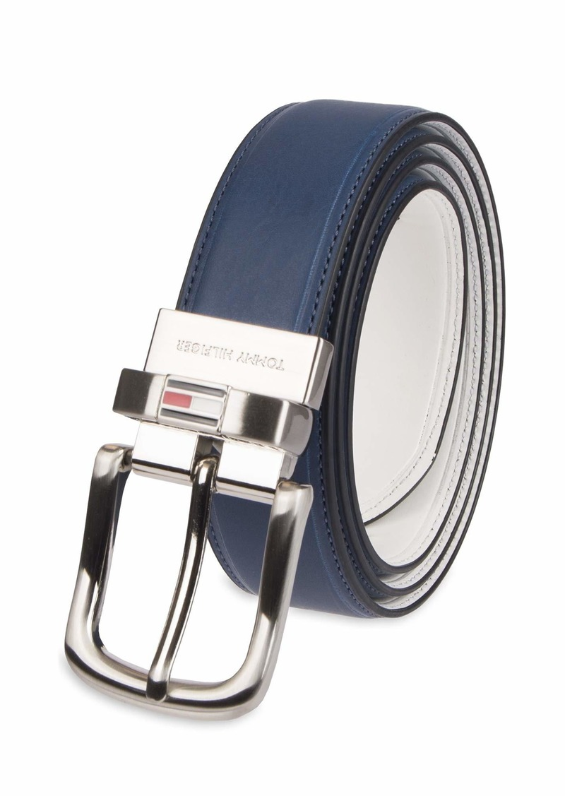9bd7c6485c39 Tommy Hilfiger Tommy Hilfiger Men s Reversible Belt navy white