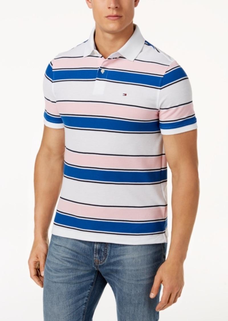 46932338 Tommy Hilfiger Tommy Hilfiger Men's Ricky Striped Slim Fit Polo ...