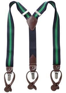 Tommy Hilfiger Men's Rugby Stripe Suspenders  One Size