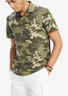ab7c54f9fa561 Tommy Hilfiger Men's Sarison Custom-Fit Camouflage Polo, Created for Macy's