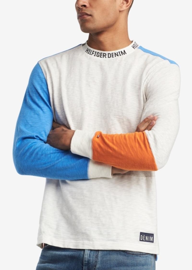 df678727 Denim Men's Sebastian Colorblocked Long Sleeve T-Shirt, Created for Macy's. Tommy  Hilfiger