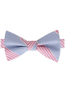 Tommy Hilfiger Men's Seersucker Stripe Pre-Tied Silk Bow Tie