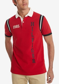 Tommy Hilfiger Men's Short Sleeve Back Bay Polo Shirt in Custom Fit Haute RED