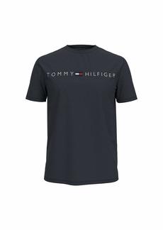 Tommy Hilfiger Men's Short Sleeve Graphic Logo T Shirt Sky Captain-PT XXL