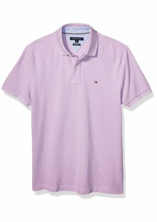 Tommy Hilfiger Men's Short Sleeve Polo Shirt in Custom Fit CANTELOUPE-PT XL