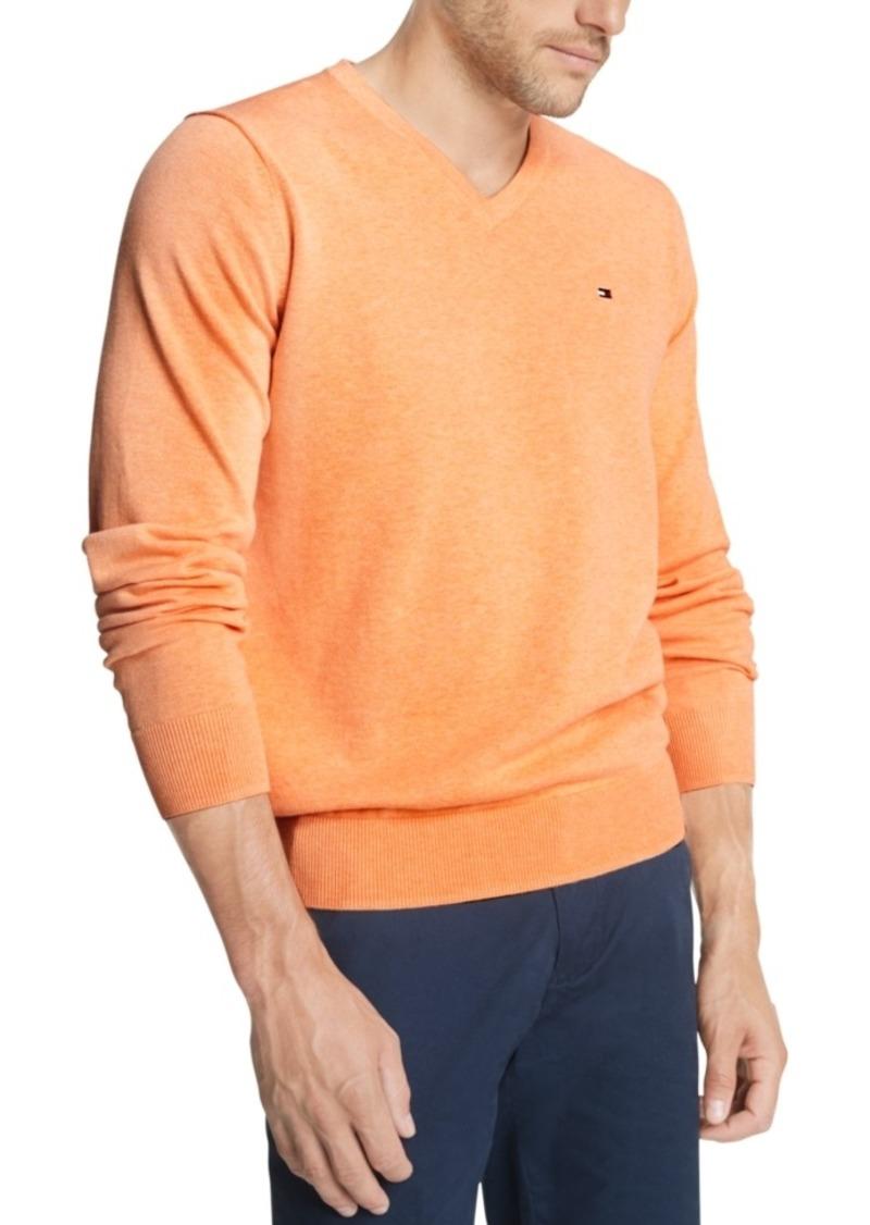 Tommy Hilfiger Men's Signature Regular-Fit Solid V-Neck Sweater