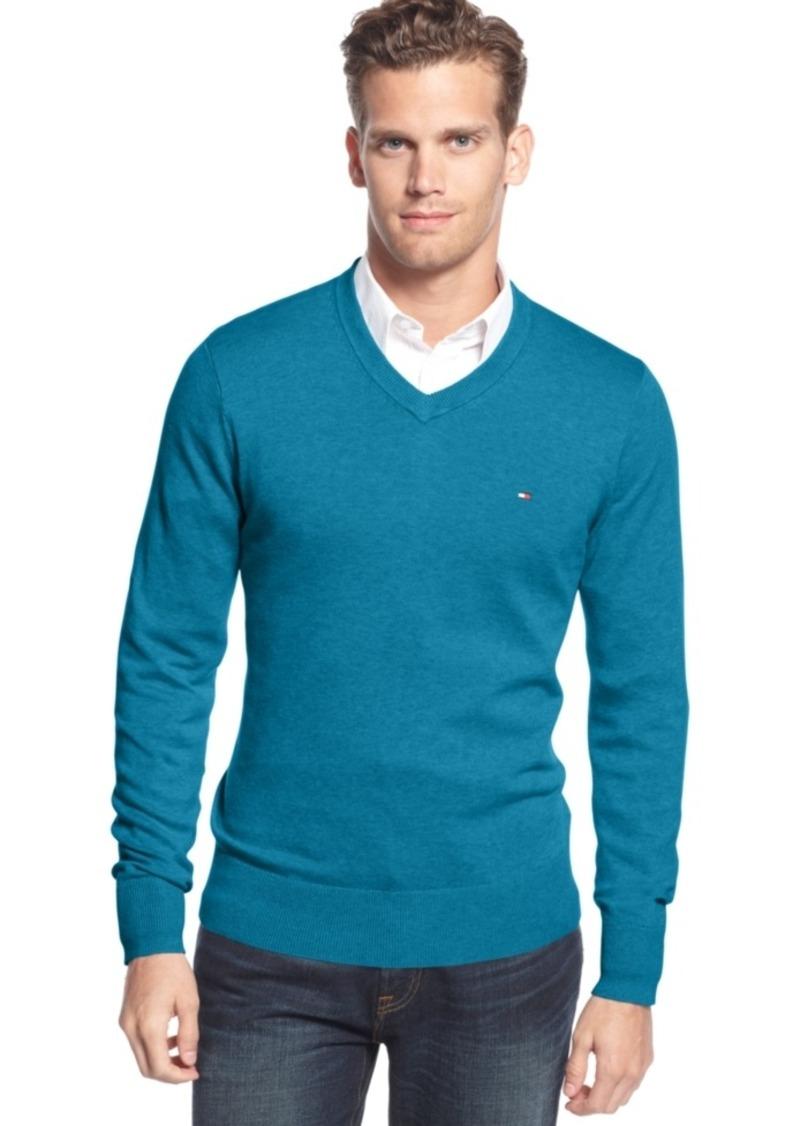 aceaf9efdb0 Men's Signature Solid V-Neck Sweater