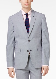 Tommy Hilfiger Men's Slim-Fit Blue and White Gingham Stretch Performance Sport Coat