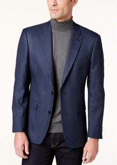 Tommy Hilfiger Men's Slim-Fit Blue Herringbone Sport Coat