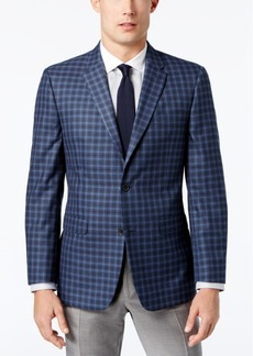 Tommy Hilfiger Men's Slim-Fit Blue Multi-Check Sport Coat