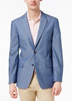 Tommy Hilfiger Men's Slim-Fit Blue Pindot Soft Tailored Cotton Sport Coat