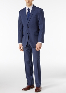 Tommy Hilfiger Men's Slim Fit Bright Blue Check Stretch Performance Suit