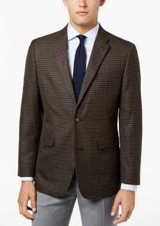 Tommy Hilfiger Men's Slim-Fit Brown Check Sport Coat
