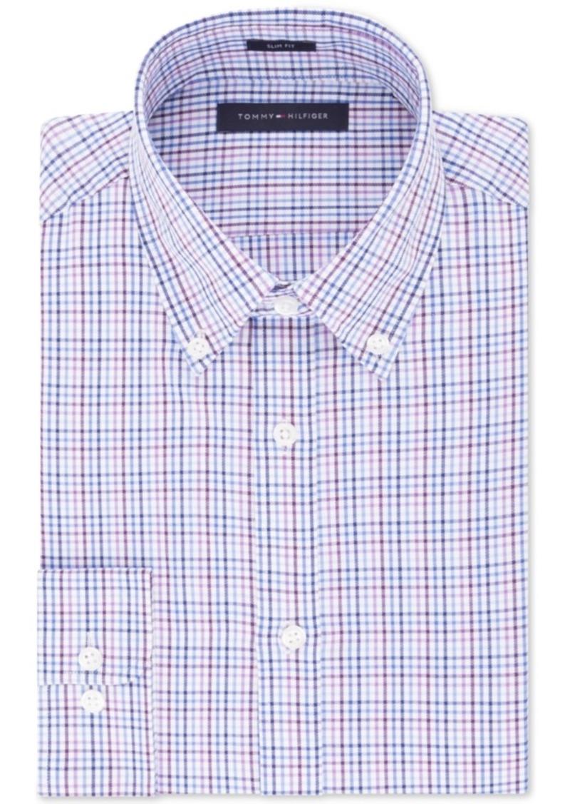 af2ba468 Tommy Hilfiger Tommy Hilfiger Men's Slim-Fit Check Dress Shirt ...