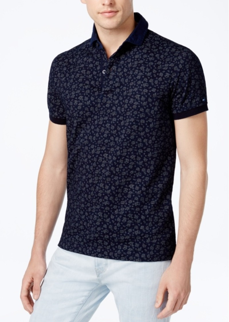 218f6e97 Tommy Hilfiger Tommy Hilfiger Men's Slim-Fit Floral Polo