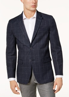 Tommy Hilfiger Men's Modern-Fit Navy & Green Windowpane Stretch Sport Coat